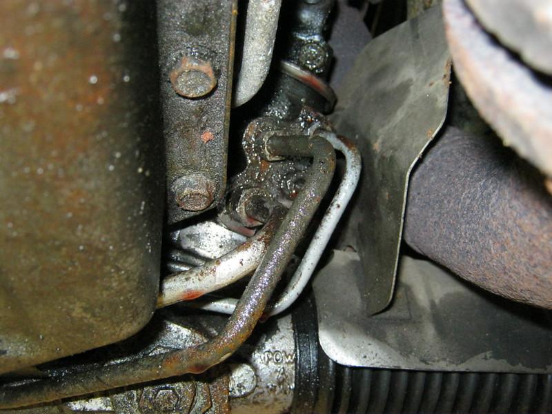 Steering rack leaking