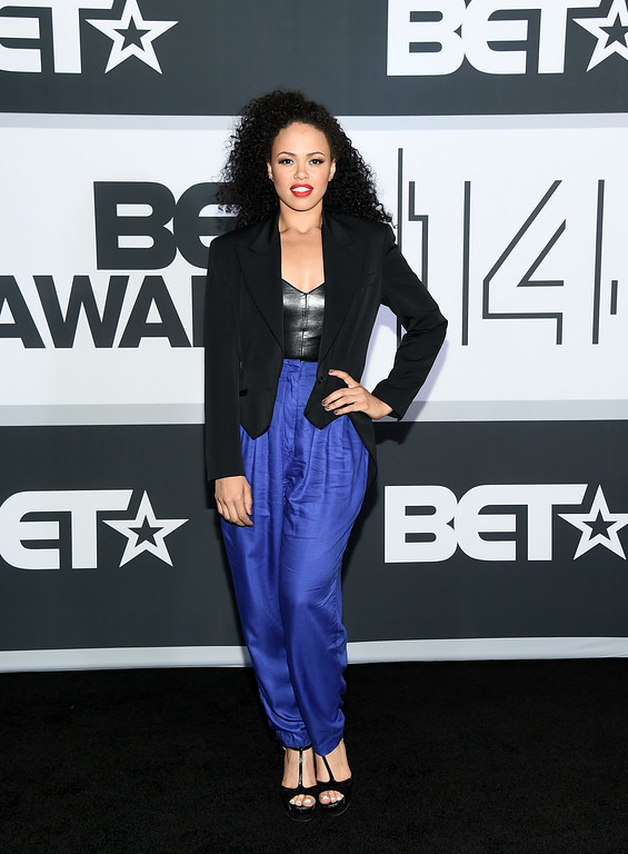 . Singer Elle Varner poses in the press room during the BET AWARDS \'14 at Nokia Theatre L.A. LIVE on June 29, 2014 in Los Angeles, California.  (Photo by Michael Buckner/Getty Images for BET)