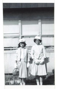 Amy and Donna in front of the apartment on Timberlake Rd.