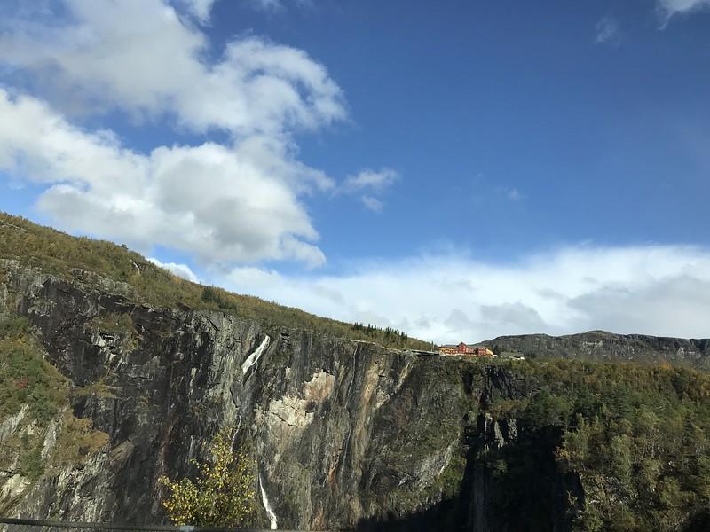 Fossli Voeringfoss waterfall en route to Ulvik