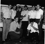 Festa dos 16 anos do César Aires Marques: Salgueiro, Furriel ?, Flau, Chico Braziel, Gigante, Hernani, Luis Duarte e César