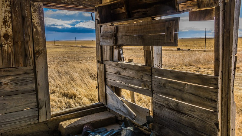 Barn Interior on Colorado Eastern Plains