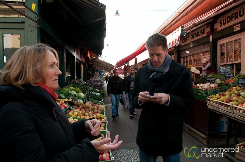 Taking Notes at the Naschmarkt - Vienna, Austria