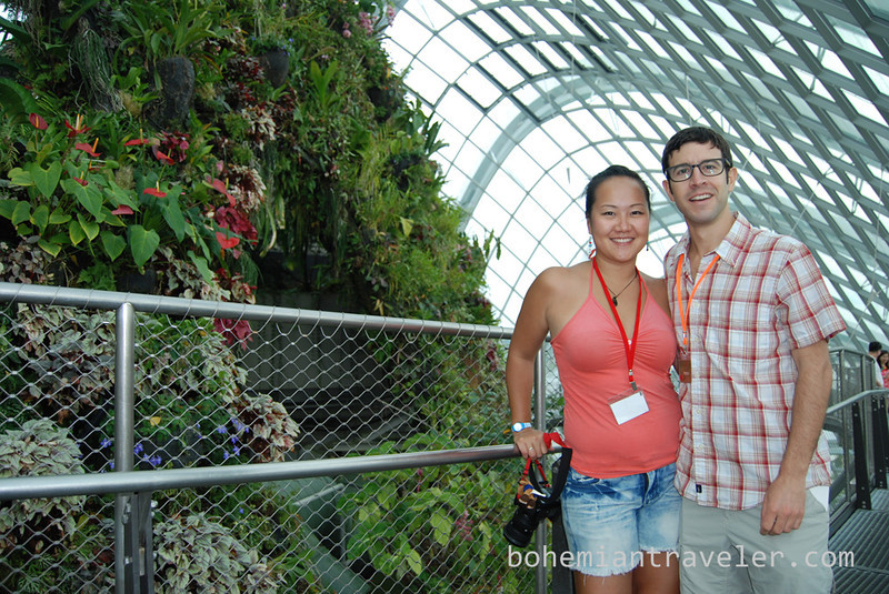 Juno and Stepehen inside the Cloud Forest at Gardens by the Bay.jpg