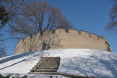 Leiden - burcht in sneeuw