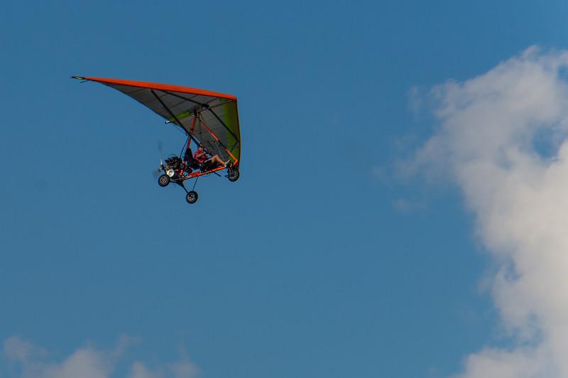 Ultralight Aircraft Flying over Sandbridge beach