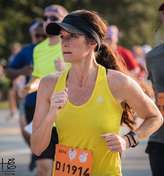 Determined female runner