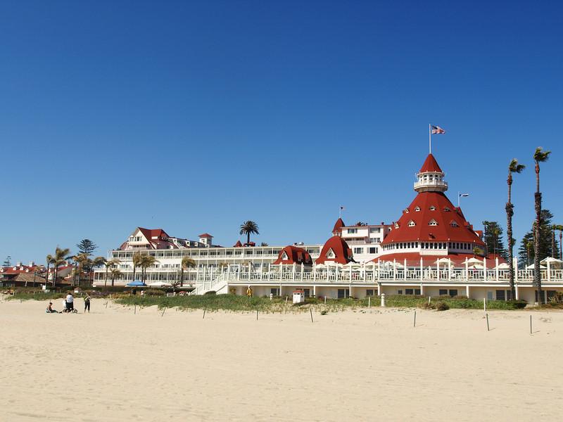 Hotel Del on Coronado Beach - California