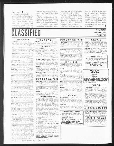 SoCal, Vol. 62, No. 78, March 01, 1971