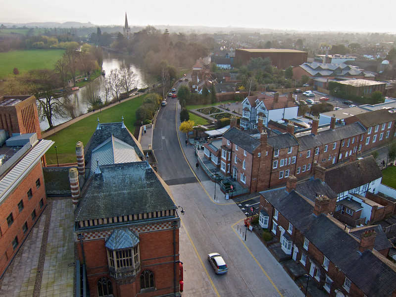 View from the tower down the Avon