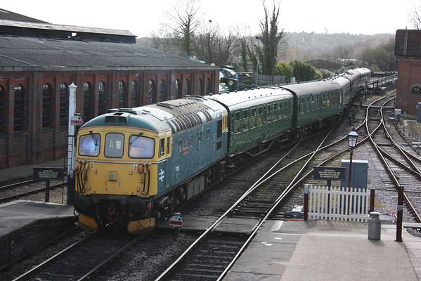 The Bluebell Railway Diesel Gala, 21st March 2014