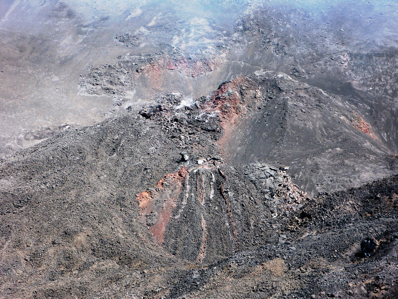 Active vent in a cinder cone