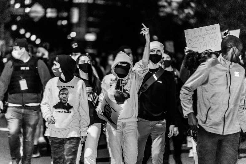 2020 10 07 Chauvin out of jail protest - BW-30.jpg