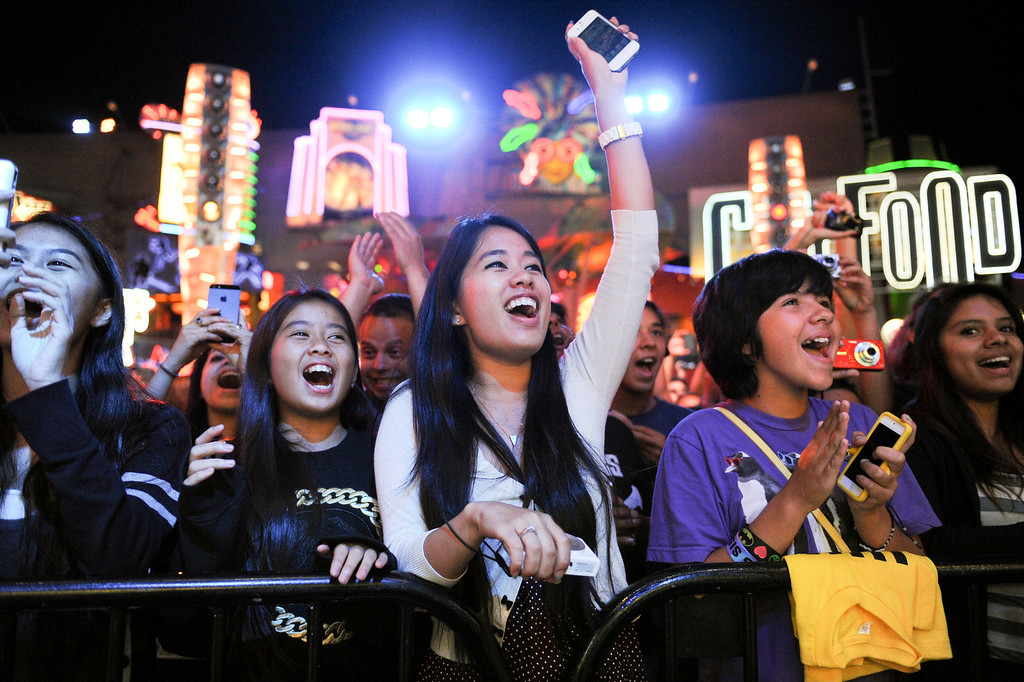 . Fans cheer for singer Carly Rose Sonenclar at 5 Towers at Universal CityWalk. Friday, July 6, 2013. (Michael Owen Baker/L.A. Daily News)