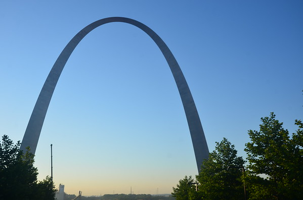St. Louis Arch, Old Courthouse, and Statues