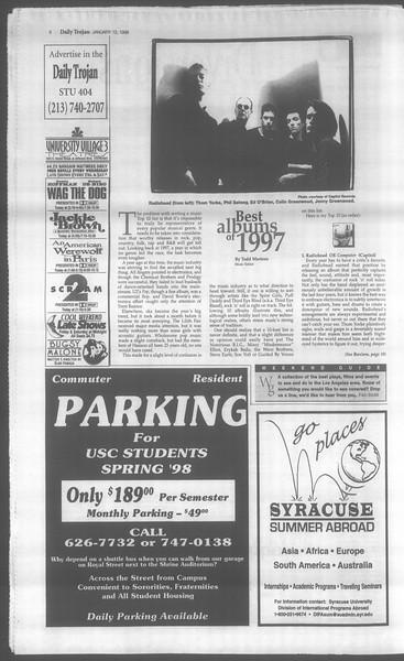 Daily Trojan, Vol. 133, No. 3, January 12, 1998
