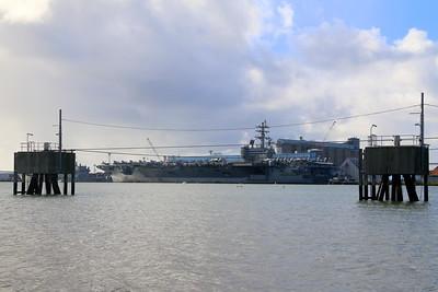 USS Ronald Reagan at Brisbane 2019