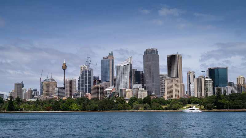 Looking back at downtown Sydney
