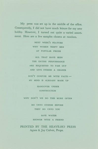 Heave-Ho Press, 1967