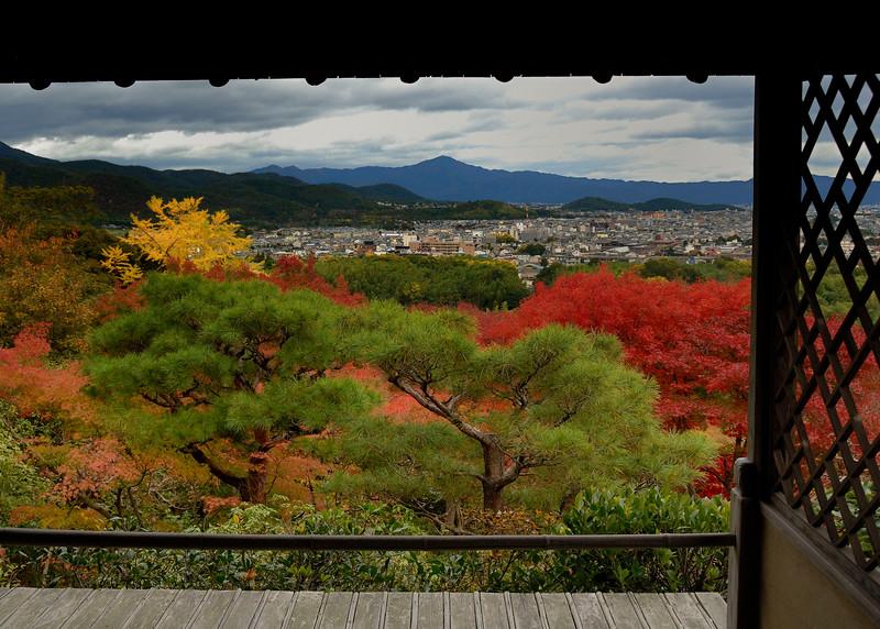 View pf Kyoto from Okochi Sanso Garden