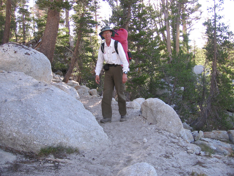 Back on trail next morning, heading east and north towards Cathedral Pass.