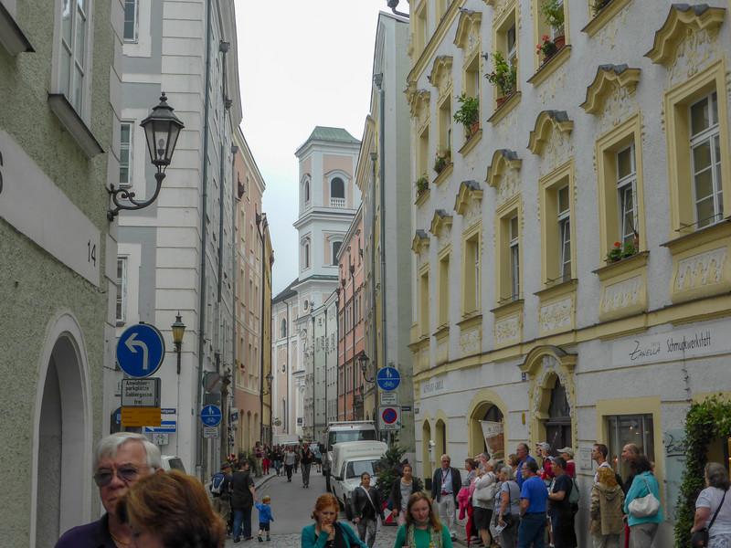A street in Passau, Germany