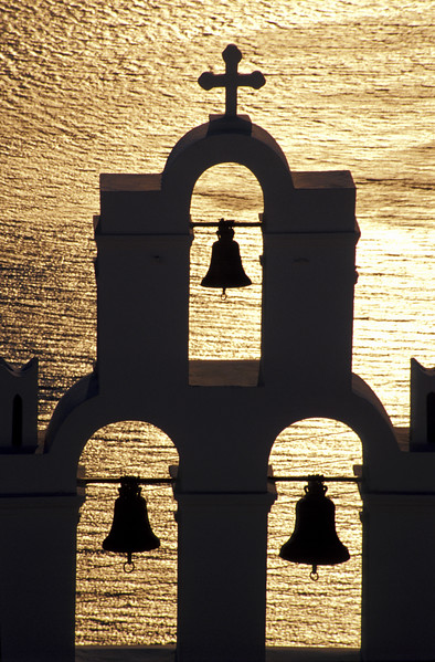 Belfry at Sunset, Santorini