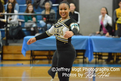 1-10-2015 Richard Montgomery HS Varsity Poms at Blake HS Invitational, MCPS Championship, Photos by Jeffrey Vogt Photography with Kyle Hall