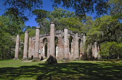 Old Sheldon Church Ruins and Hunting Island April 2016