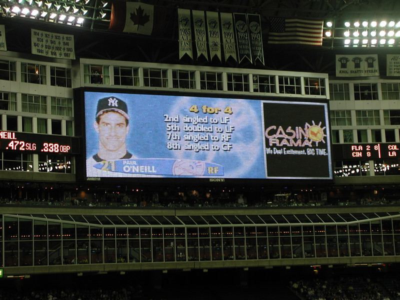 July 2001 Yankees at Toronto