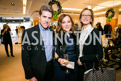 Peter Mark, Tina West, Susan Tolson. Photo by Alfredo Flores. Saks Jandel Holiday Brunch. Saks Jandel. December 7, 2014.