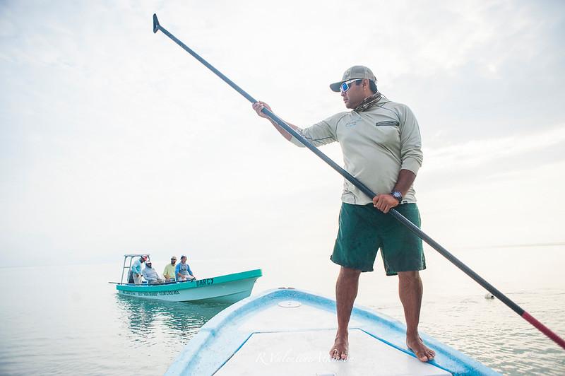 fishing guide at palometa club, ascension bay, mexico. permit fishing.