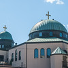"<a href=""http://www.stgeorgestoronto.org/index.html"" target=""_blank"">St George's Greek Orthodox Church</a> Domes from rear of church"
