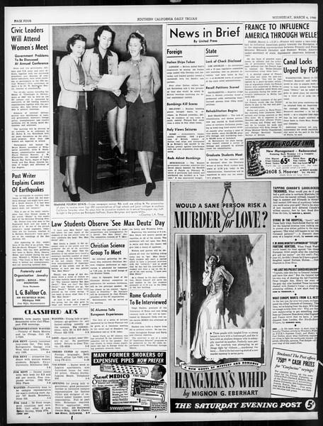 Daily Trojan, Vol. 31, No. 98, March 06, 1940