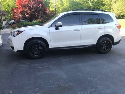 @boobs_n_boost 2018 Forester XT on 18x8.5 Flat Black Grids