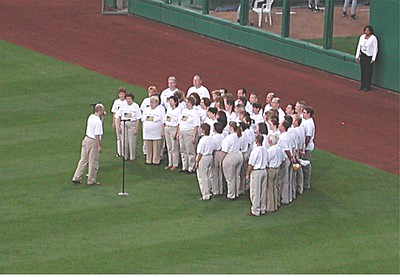 2002 Pirates Game with Choir