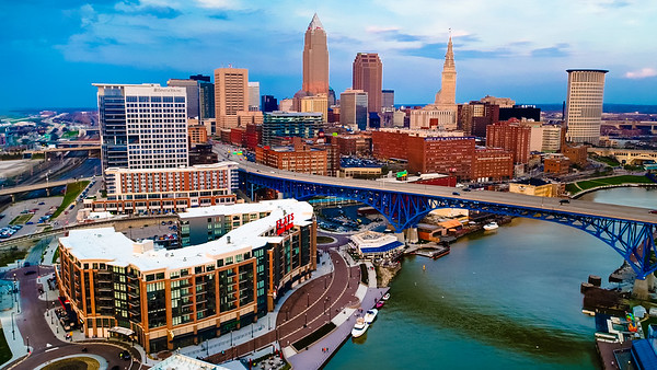Downtown Cleveland Drone Photography