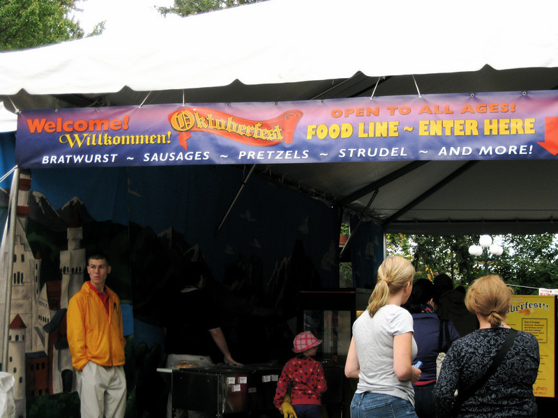 The food tent was set up on the International Food Festival patio.