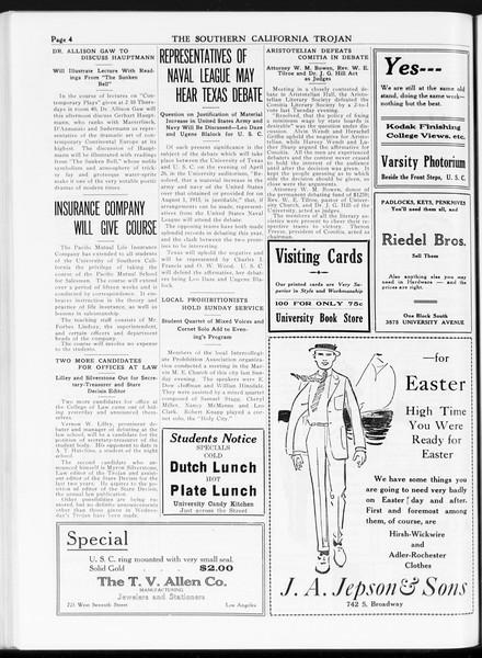 The Southern California Trojan, Vol. 7, No. 103, April 20, 1916