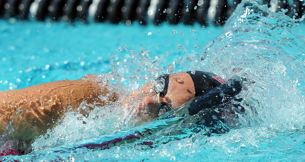 . Pasadena\'s Victoria Lepesant finished in 8th place in the 200 yard freestyle during the CIF-SS Division II swim finals at Riverside City College on Saturday, May 11, 2013 in Riverside, Calif.  (Keith Birmingham Pasadena Star-News)