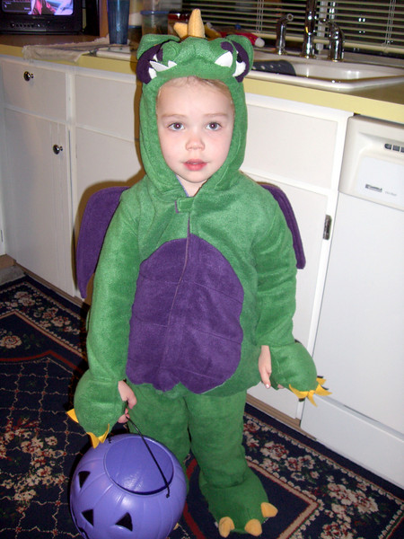 Getting ready to go trick-or-treating at Grammy Rose's house.
