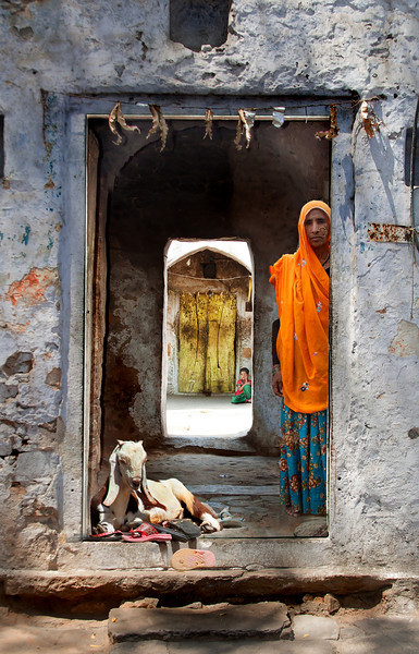 Doorway to a house in Samode, India