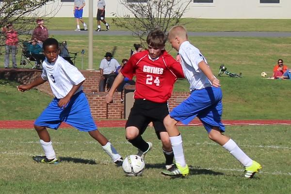 MS Soccer vs Grymes School