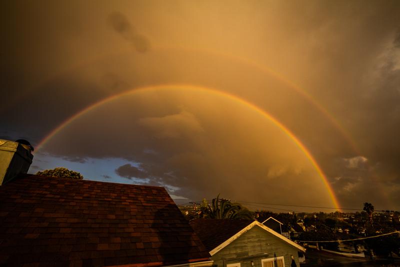 January 12 - Douvle rainbow as the rains hit part of the Los Angeles basis.jpg