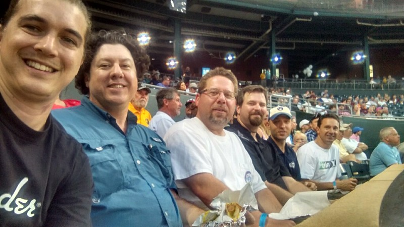 Beaches Vineyard Men's group outing to a Jax Sun's baseball game