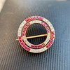 2.90ctw French Ruby and Diamond Brooch, by La Cloche Fres of Paris 8