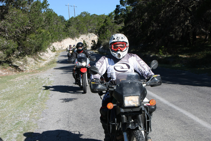 My group headed south on day 2.  During a short break this group of riders caught us.