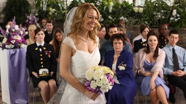 """. Star Trek Voyager\'s Jeri Ryan as Pete\'s ex-wife in episode 304, \""""Queen For a Day.\"""" SyFy"""