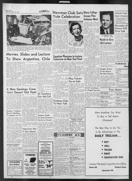 Daily Trojan, Vol. 43, No. 58, December 10, 1951