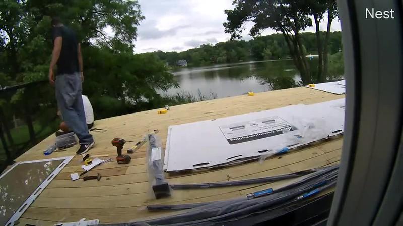 Deck - Glass Railing Install.mp4